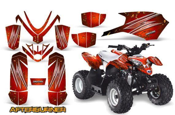 Polaris Outlaw Predator 50 Graphics Kit AfterBurner Red 570x376 - Polaris Predator 50 Graphics