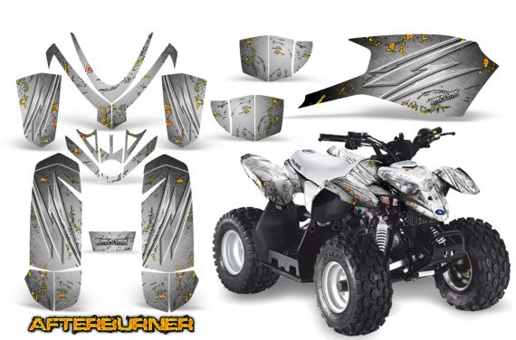 Polaris Outlaw Predator 50 Graphics Kit AfterBurner White 570x376 - Polaris Predator 50 Graphics