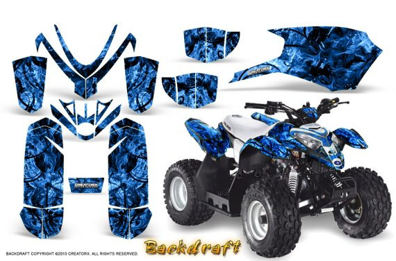 Polaris Outlaw Predator 50 Graphics Kit Backdraft Blue 1 570x376 - Polaris Outlaw 50 Graphics