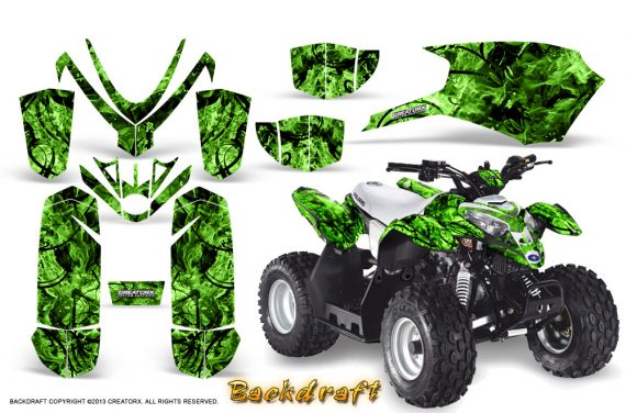 Polaris Outlaw Predator 50 Graphics Kit Backdraft Green 1 570x376 - Polaris Outlaw 50 Graphics