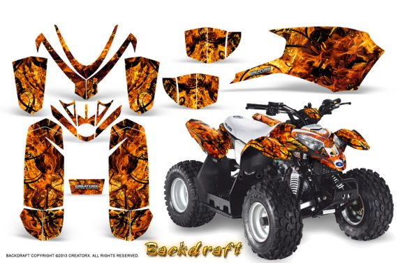 Polaris Outlaw Predator 50 Graphics Kit Backdraft Orange 570x376 - Polaris Predator 50 Graphics