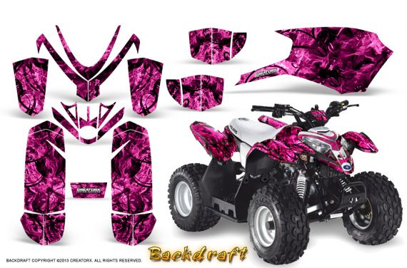 Polaris Outlaw Predator 50 Graphics Kit Backdraft Pink 570x376 - Polaris Predator 50 Graphics