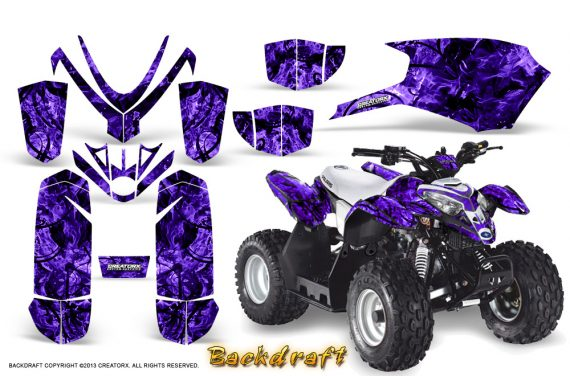 Polaris Outlaw Predator 50 Graphics Kit Backdraft Purple 570x376 - Polaris Predator 50 Graphics