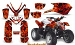 Polaris Outlaw Predator 50 Graphics Kit Backdraft Red 150x90 - Polaris Predator 50 Graphics