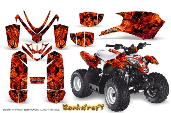 Polaris Outlaw Predator 50 Graphics Kit Backdraft Red 570x376 - Polaris Predator 50 Graphics