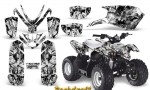 Polaris Outlaw Predator 50 Graphics Kit Backdraft White 150x90 - Polaris Predator 50 Graphics