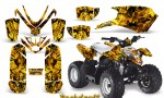 Polaris Outlaw Predator 50 Graphics Kit Backdraft Yellow 150x90 - Polaris Predator 50 Graphics