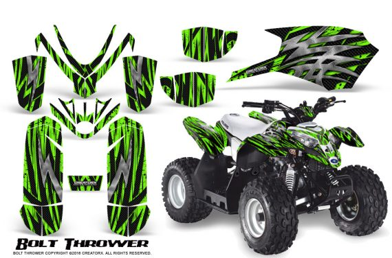 Polaris Outlaw Predator 50 Graphics Kit Bolt Thrower Green 1 570x376 - Polaris Outlaw 50 Graphics