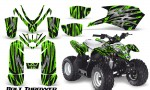 Polaris Outlaw Predator 50 Graphics Kit Bolt Thrower Green 150x90 - Polaris Predator 50 Graphics