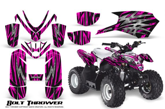 Polaris Outlaw Predator 50 Graphics Kit Bolt Thrower Pink 1 570x376 - Polaris Outlaw 50 Graphics