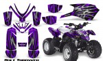 Polaris Outlaw Predator 50 Graphics Kit Bolt Thrower Purple 150x90 - Polaris Predator 50 Graphics