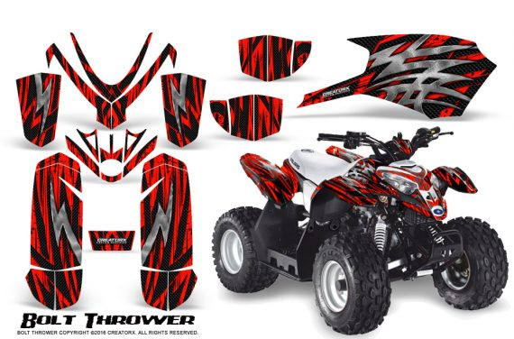 Polaris Outlaw Predator 50 Graphics Kit Bolt Thrower Red 1 570x376 - Polaris Outlaw 50 Graphics
