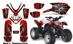 Polaris Outlaw Predator 50 Graphics Kit Bolt Thrower Red 150x90 - Polaris Predator 50 Graphics