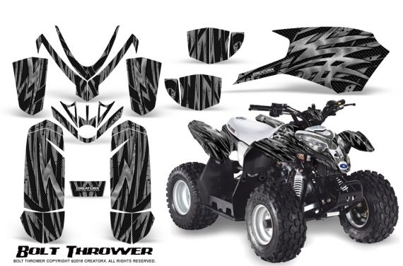 Polaris Outlaw Predator 50 Graphics Kit Bolt Thrower Silver 1 570x376 - Polaris Outlaw 50 Graphics