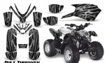 Polaris Outlaw Predator 50 Graphics Kit Bolt Thrower Silver 150x90 - Polaris Predator 50 Graphics