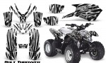Polaris Outlaw Predator 50 Graphics Kit Bolt Thrower White 150x90 - Polaris Predator 50 Graphics