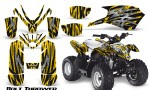 Polaris Outlaw Predator 50 Graphics Kit Bolt Thrower Yellow 150x90 - Polaris Predator 50 Graphics