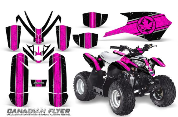 Polaris Outlaw Predator 50 Graphics Kit Canadian Flyer Pink Black 1 570x376 - Polaris Outlaw 50 Graphics