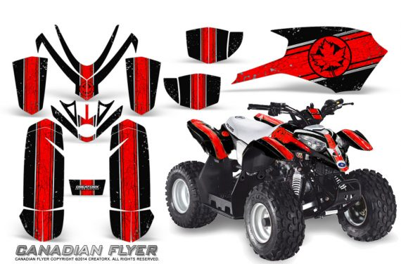 Polaris Outlaw Predator 50 Graphics Kit Canadian Flyer Red Black 570x376 - Polaris Predator 50 Graphics
