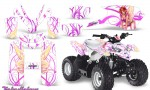 Polaris Outlaw Predator 50 Graphics Kit Fairylicious Pink White 150x90 - Polaris Predator 50 Graphics