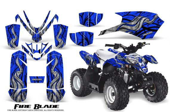 Polaris Outlaw Predator 50 Graphics Kit Fire Blade Blue 1 570x376 - Polaris Outlaw 50 Graphics