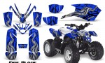 Polaris Outlaw Predator 50 Graphics Kit Fire Blade Blue 150x90 - Polaris Predator 50 Graphics