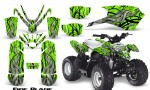 Polaris Outlaw Predator 50 Graphics Kit Fire Blade Green 150x90 - Polaris Predator 50 Graphics