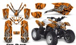 Polaris Outlaw Predator 50 Graphics Kit Fire Blade Orange 150x90 - Polaris Predator 50 Graphics