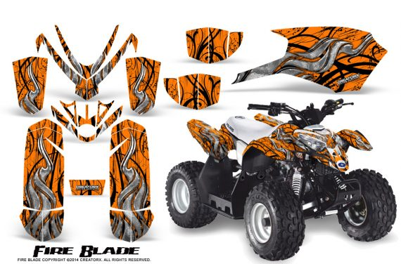 Polaris Outlaw Predator 50 Graphics Kit Fire Blade Orange 570x376 - Polaris Predator 50 Graphics