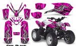 Polaris Outlaw Predator 50 Graphics Kit Fire Blade Pink 150x90 - Polaris Predator 50 Graphics