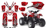 Polaris Outlaw Predator 50 Graphics Kit Fire Blade Red 150x90 - Polaris Predator 50 Graphics