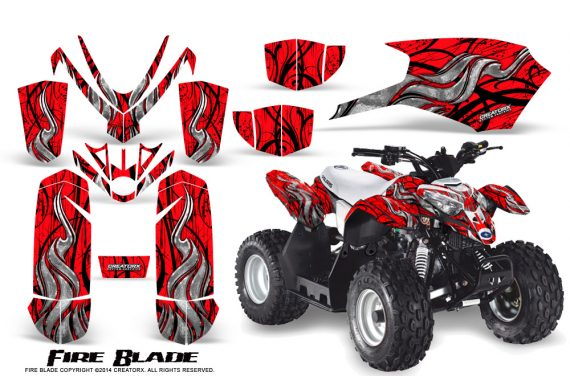 Polaris Outlaw Predator 50 Graphics Kit Fire Blade Red 570x376 - Polaris Predator 50 Graphics