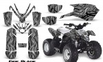 Polaris Outlaw Predator 50 Graphics Kit Fire Blade Silver 150x90 - Polaris Predator 50 Graphics