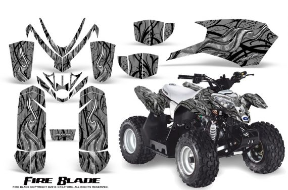 Polaris Outlaw Predator 50 Graphics Kit Fire Blade Silver 570x376 - Polaris Predator 50 Graphics