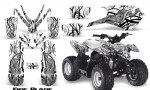 Polaris Outlaw Predator 50 Graphics Kit Fire Blade White 150x90 - Polaris Predator 50 Graphics