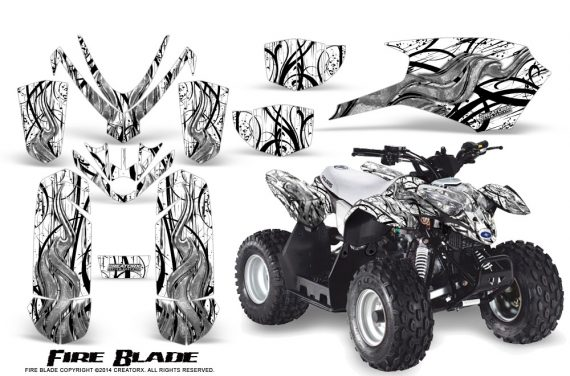 Polaris Outlaw Predator 50 Graphics Kit Fire Blade White 570x376 - Polaris Predator 50 Graphics