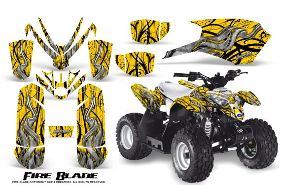 Polaris Outlaw Predator 50 Graphics Kit Fire Blade Yellow 1 570x376 - Polaris Outlaw 50 Graphics