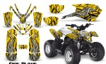 Polaris Outlaw Predator 50 Graphics Kit Fire Blade Yellow 150x90 - Polaris Predator 50 Graphics