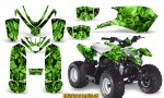 Polaris Outlaw Predator 50 Graphics Kit Inferno Green 150x90 - Polaris Predator 50 Graphics