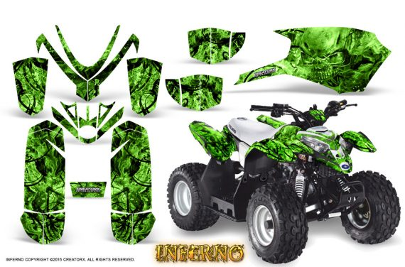 Polaris Outlaw Predator 50 Graphics Kit Inferno Green 570x376 - Polaris Predator 50 Graphics