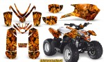 Polaris Outlaw Predator 50 Graphics Kit Inferno Orange 150x90 - Polaris Predator 50 Graphics
