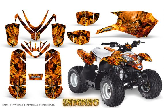 Polaris Outlaw Predator 50 Graphics Kit Inferno Orange 570x376 - Polaris Predator 50 Graphics