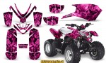 Polaris Outlaw Predator 50 Graphics Kit Inferno Pink 150x90 - Polaris Predator 50 Graphics