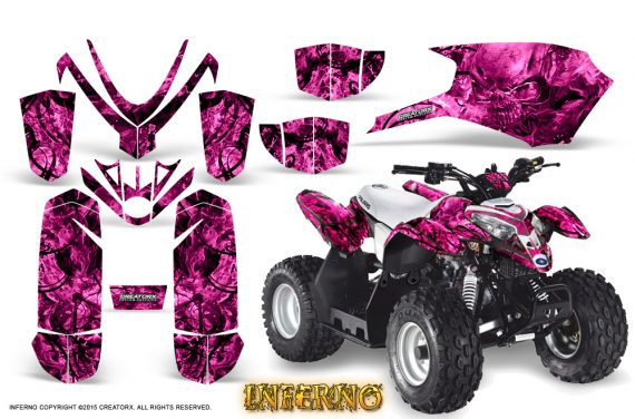 Polaris Outlaw Predator 50 Graphics Kit Inferno Pink 570x376 - Polaris Predator 50 Graphics