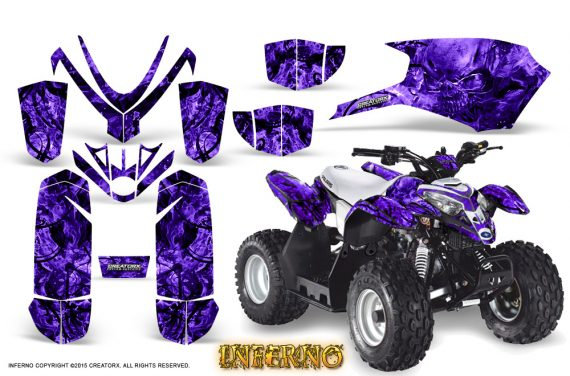 Polaris Outlaw Predator 50 Graphics Kit Inferno Purple 570x376 - Polaris Predator 50 Graphics