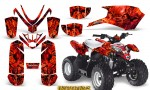 Polaris Outlaw Predator 50 Graphics Kit Inferno Red 150x90 - Polaris Predator 50 Graphics
