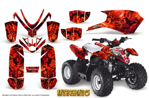 Polaris Outlaw Predator 50 Graphics Kit Inferno Red 570x376 - Polaris Predator 50 Graphics
