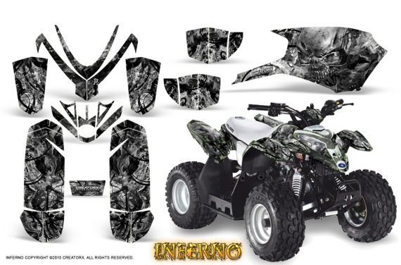 Polaris Outlaw Predator 50 Graphics Kit Inferno Silver 570x376 - Polaris Predator 50 Graphics