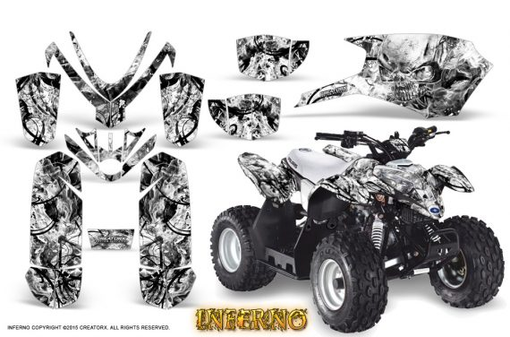 Polaris Outlaw Predator 50 Graphics Kit Inferno White 1 570x376 - Polaris Outlaw 50 Graphics