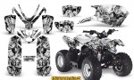 Polaris Outlaw Predator 50 Graphics Kit Inferno White 150x90 - Polaris Predator 50 Graphics